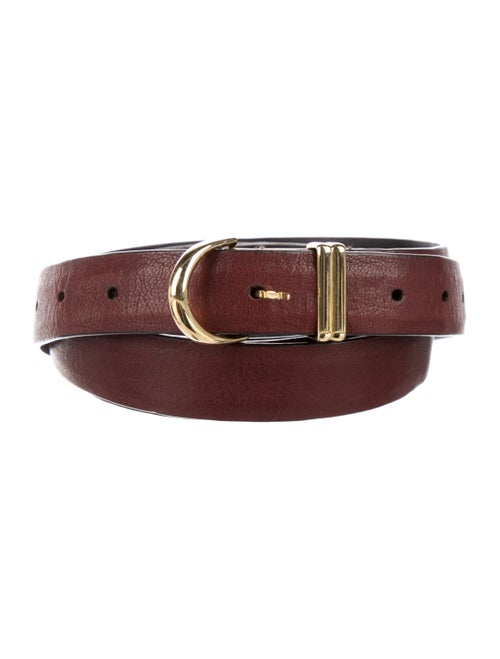 Khaite Skinny Leather Belt Gold - image 1