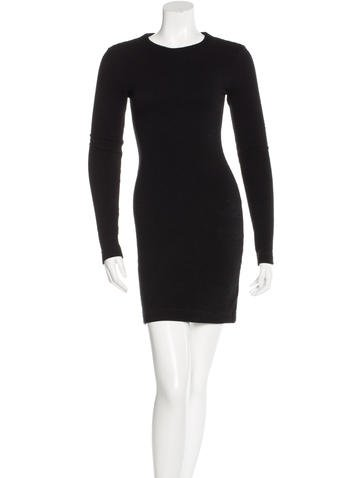 Kimberly Ovitz Rib Knit Long Sleeve Dress None