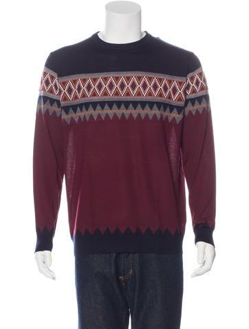 Kiton Cashmere Argyle Sweater w/ Tags None
