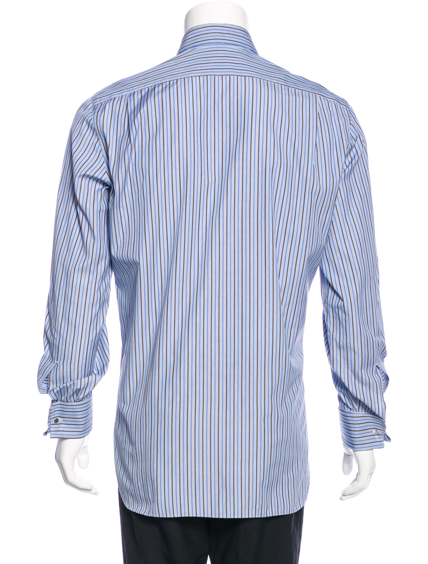 kiton striped french cuff shirt clothing kit21180. Black Bedroom Furniture Sets. Home Design Ideas
