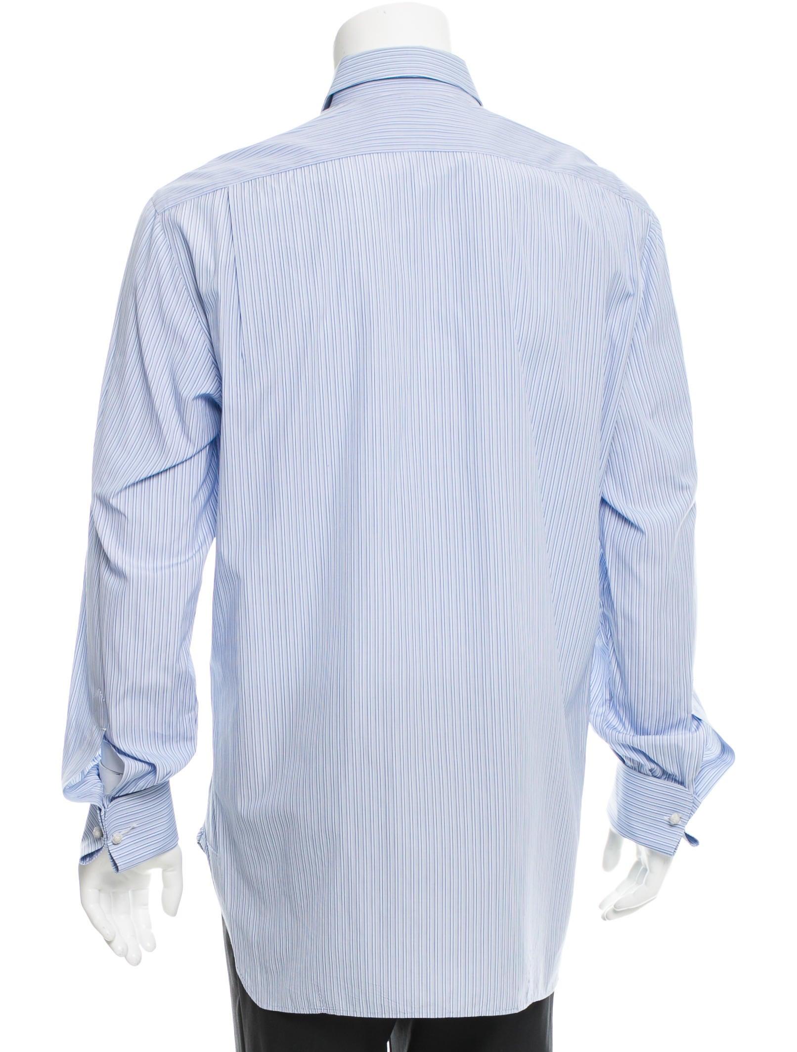 Kiton striped button up shirt clothing kit21333 the for Striped button up shirt mens