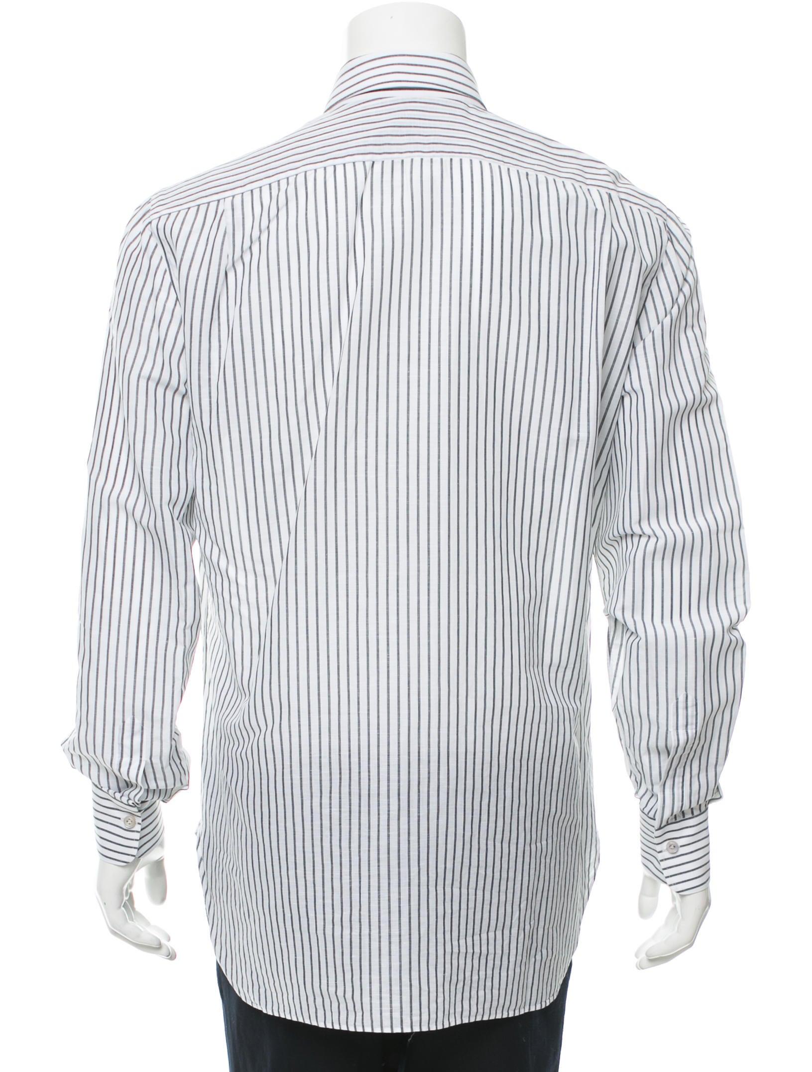 Kiton striped button up shirt clothing kit21464 the for Striped button up shirt mens