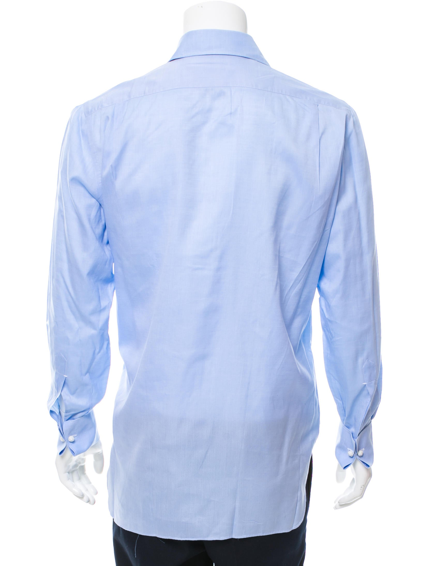 Kiton french cuff button up shirt clothing kit21548 for Pin collar shirt double cuff