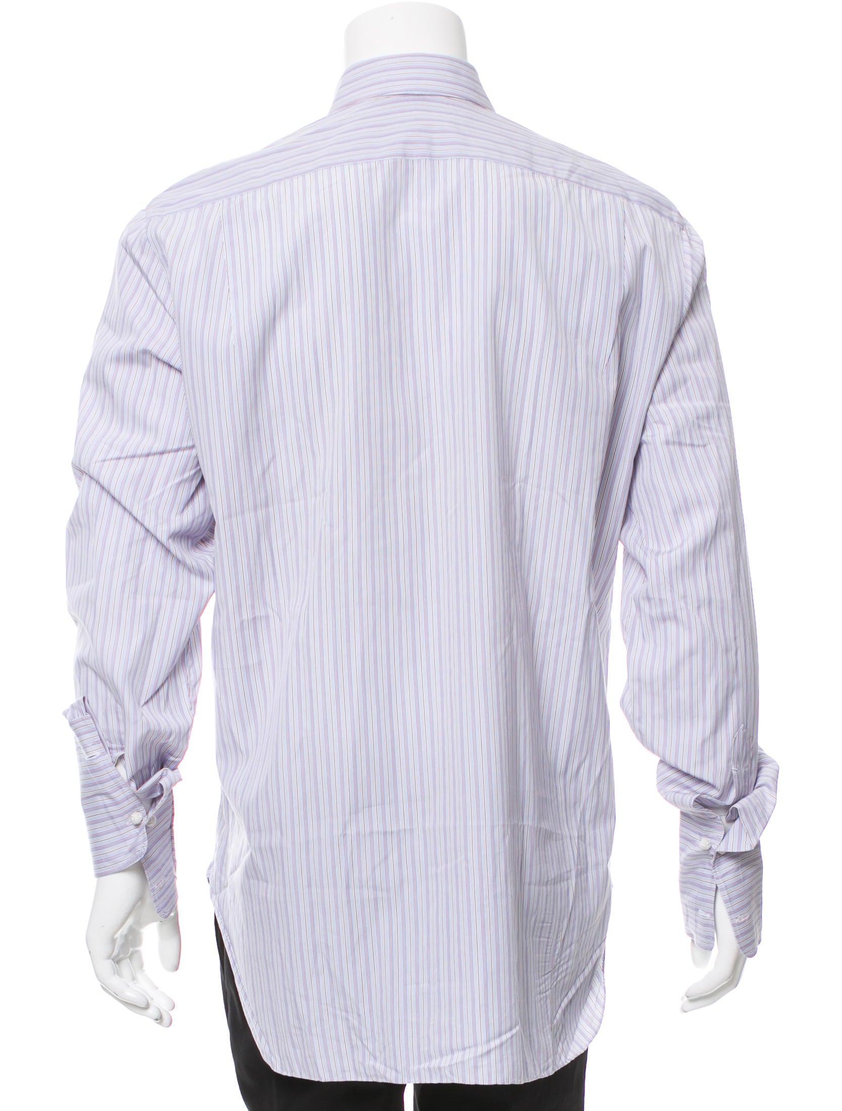 Kiton striped button up shirt clothing kit21572 the for Striped button up shirt mens