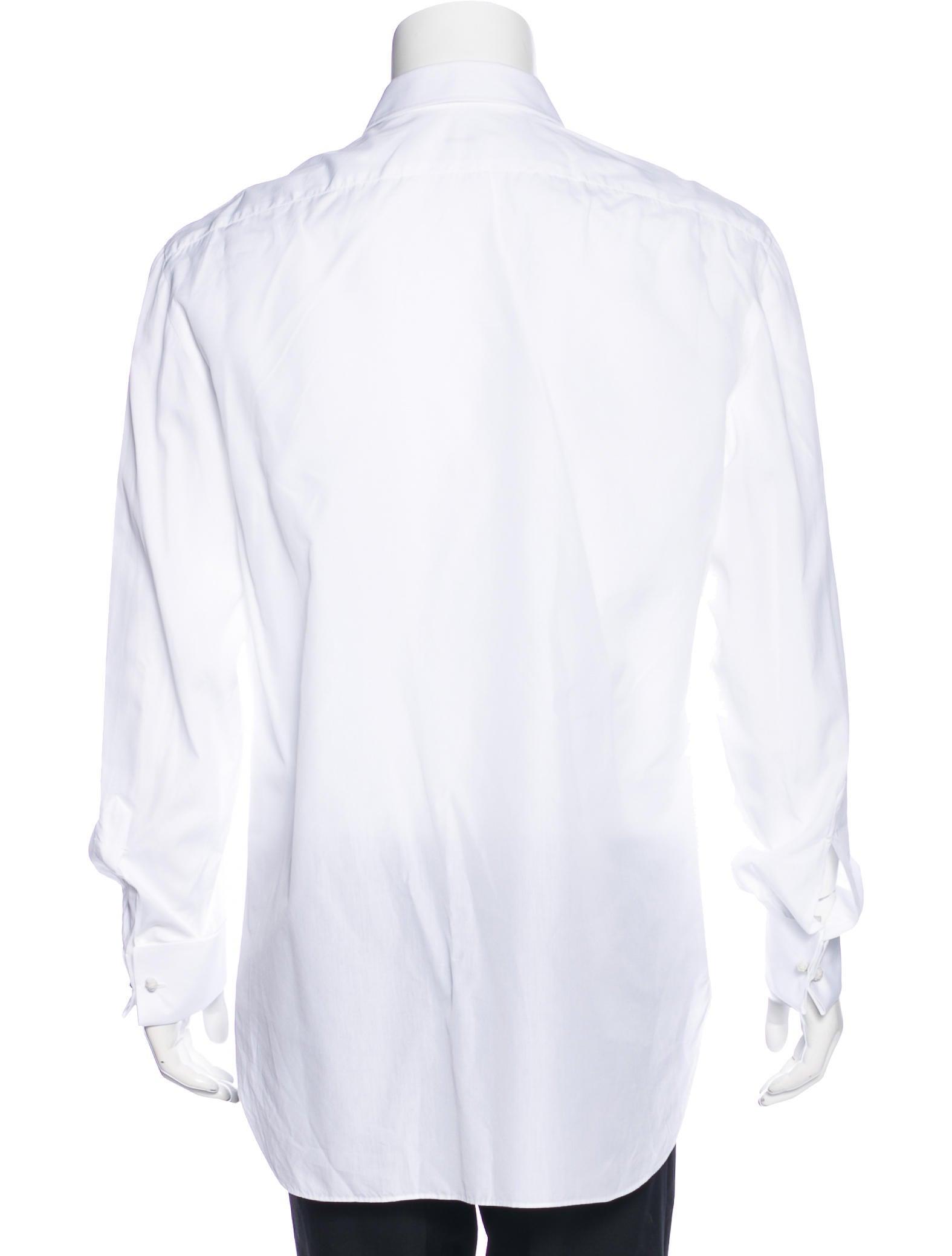 Kiton french cuff tuxedo shirt clothing kit21633 the for Tuxedo shirt french cuff