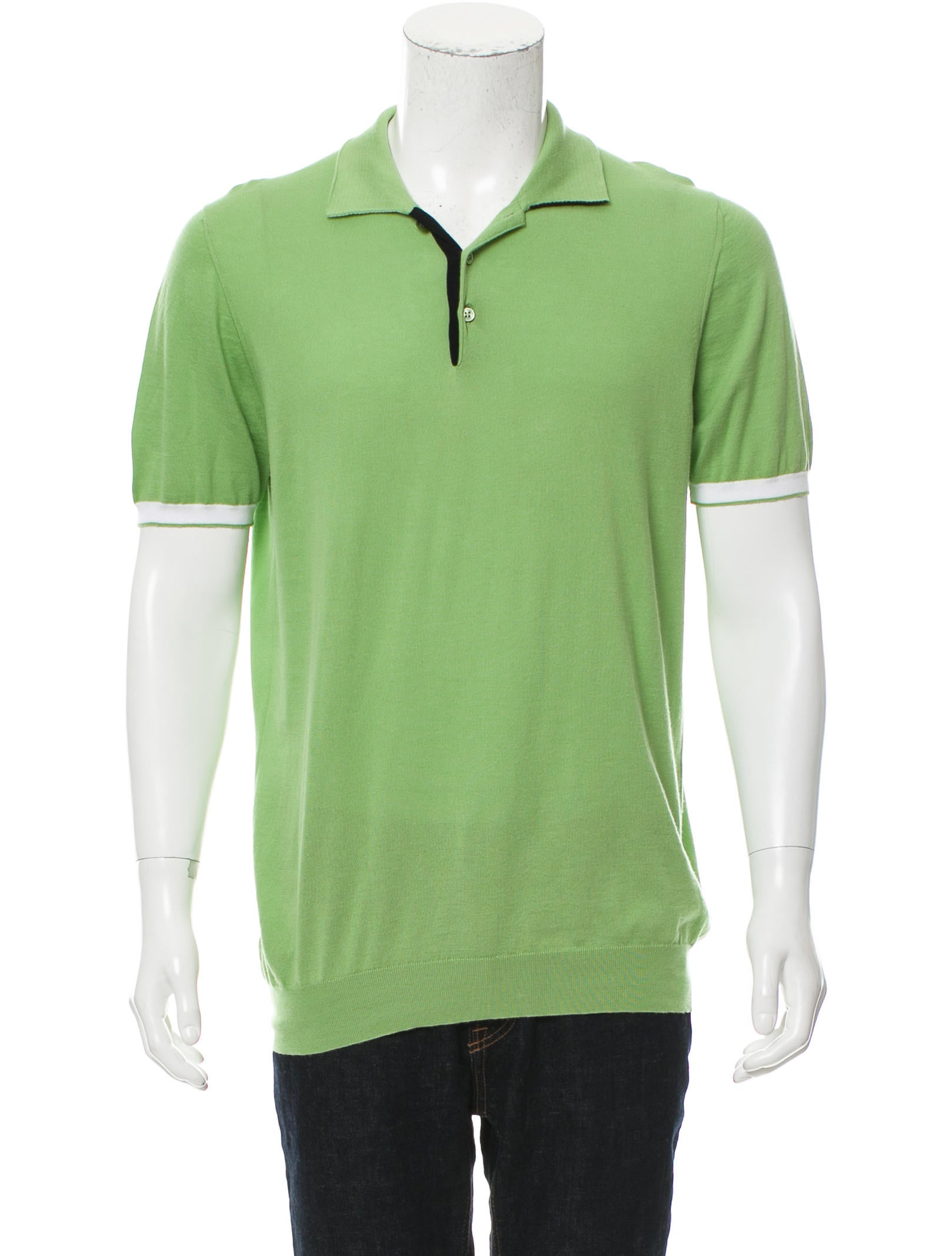 Kiton knit polo shirt clothing kit21719 the realreal for Knitted polo shirt mens
