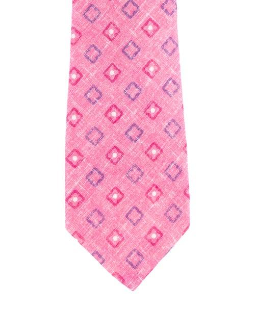 Printed Linen Tie
