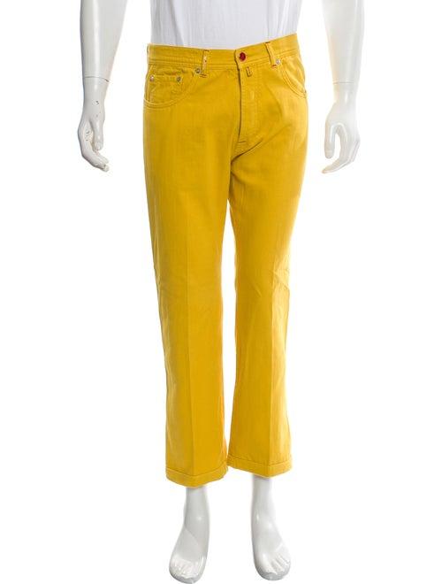 Kiton Straight-Leg Jeans yellow