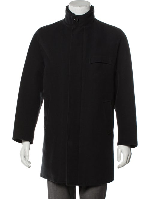 Kiton Wool-Blend Long Coat wool