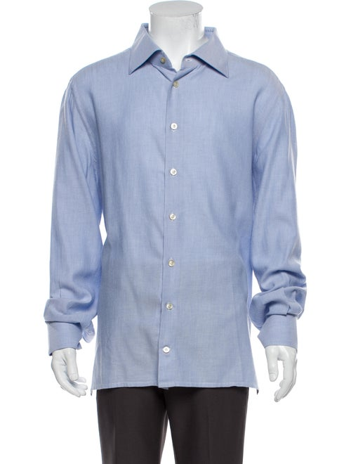 Kiton Long Sleeve Dress Shirt Blue