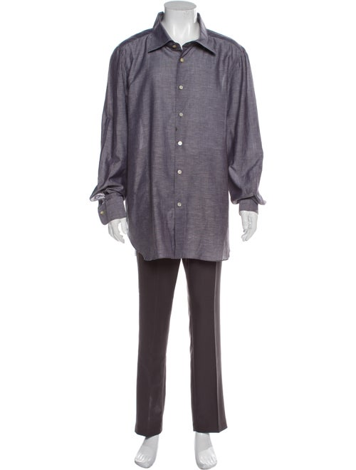 Kiton Long Sleeve Dress Shirt Grey