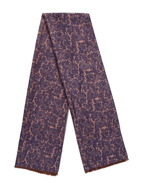 Kiton Silk Knit Scarf tan