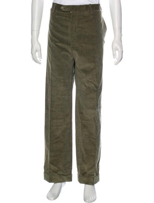 Kiton Corduroy Pants Green