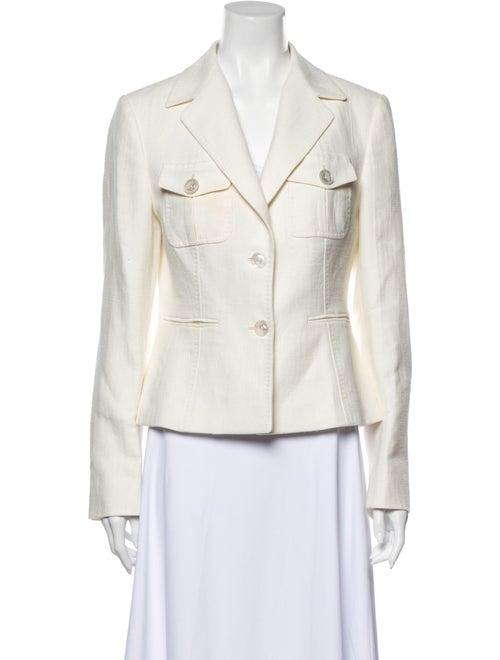 Kiton Linen Blazer White