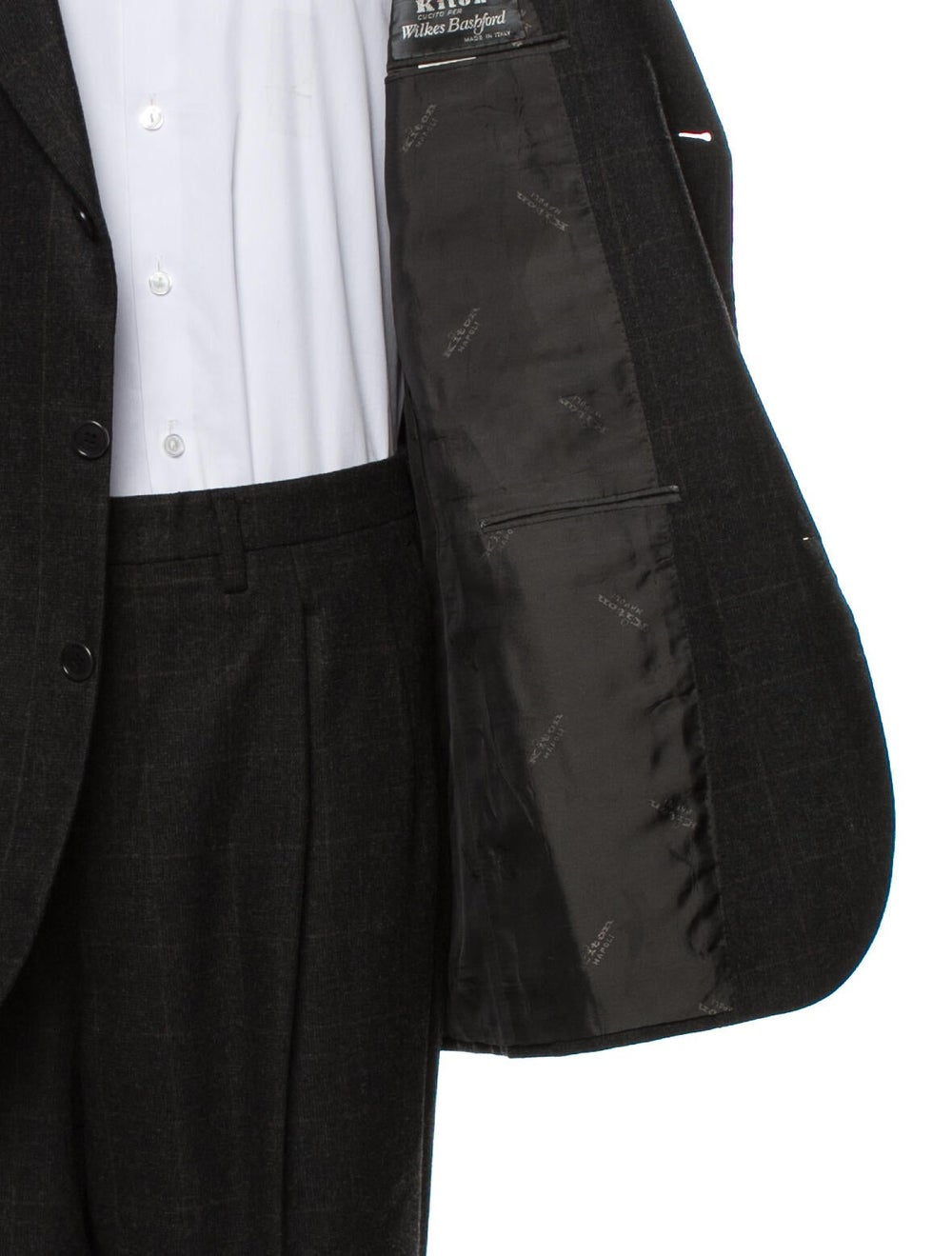Kiton Wool Two-Piece Blazer Wool - image 5
