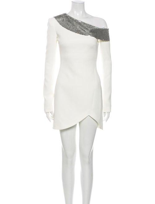 David Koma One-Shoulder Mini Dress w/ Tags White