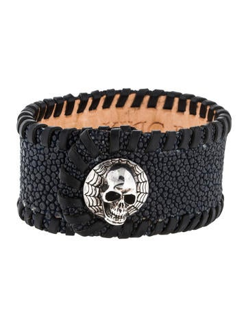 King Baby Studio Sting Ray Skull Cuff None