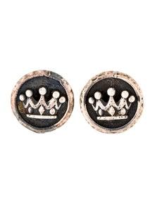5c6858066 King Baby Studio. Crown Coin Stud Earrings