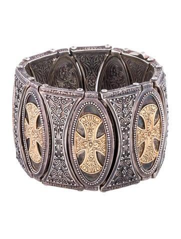 Two-Tone Cross Bracelet