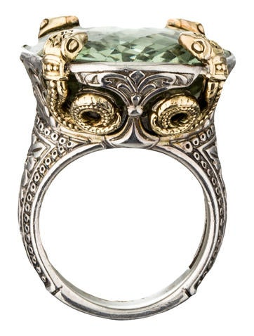 Green Amethyst Snake Ring