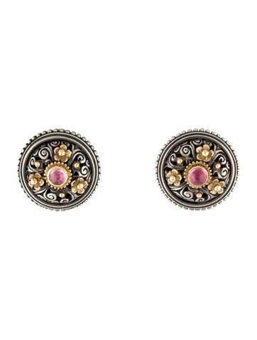 Konstantino Two-Tone Tourmaline Clip-On Earrings
