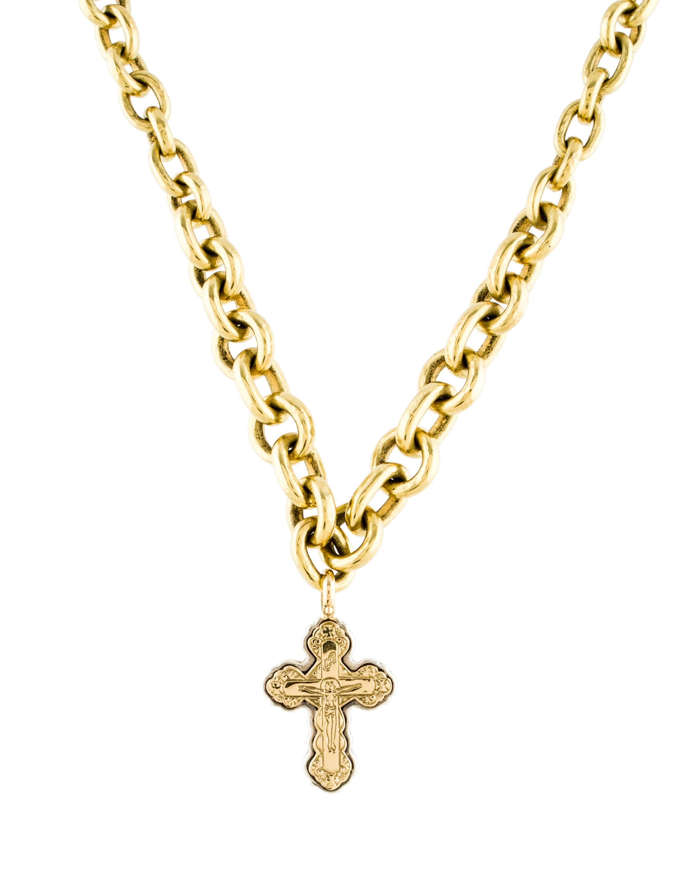 konstantino two tone cross pendant necklace necklaces