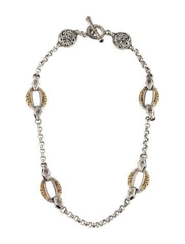 Konstantino Garnet Daphne Necklace None