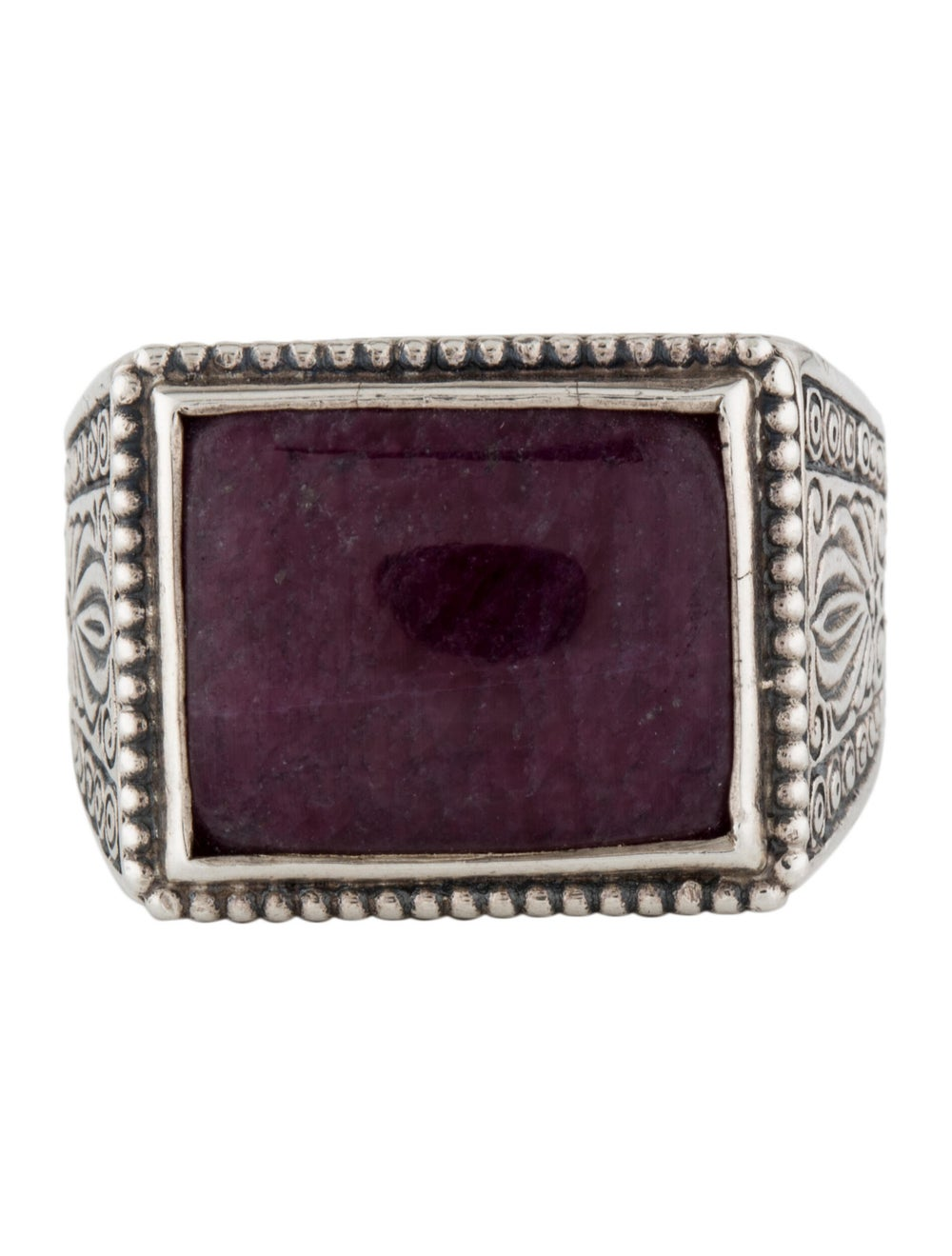 Konstantino Ruby Cocktail Ring Silver - image 3