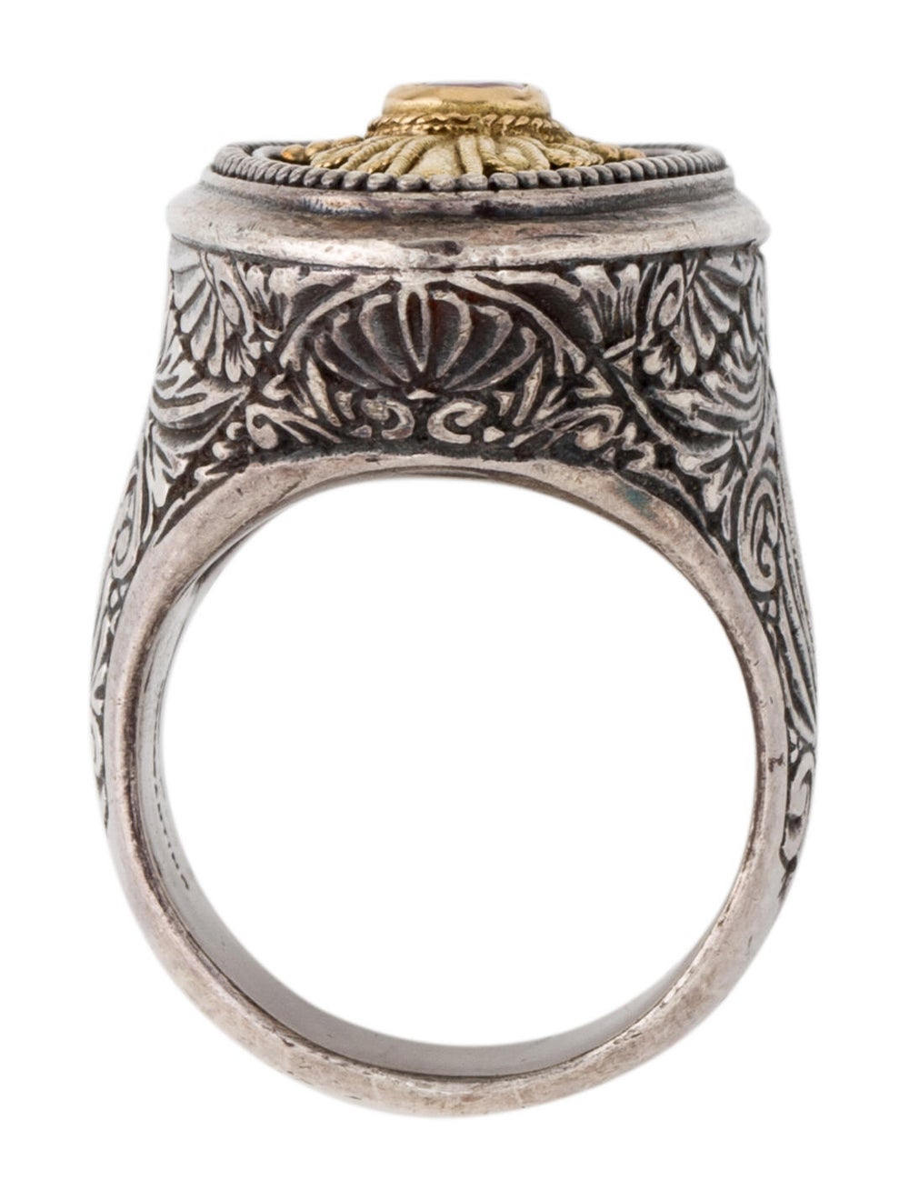 Konstantino Ruby Cocktail Ring Silver - image 5