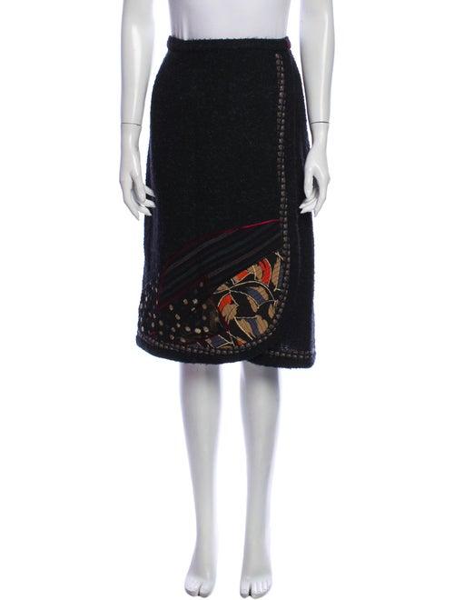 Koos Van Den Akker Wool Knee-Length Skirt Wool