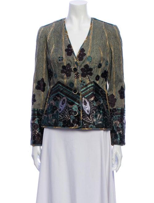 Koos Van Den Akker Silk Printed Evening Jacket
