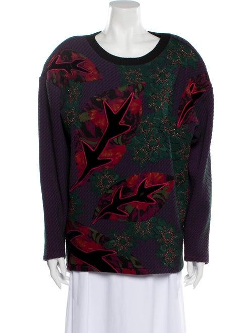 Koos Van Den Akker Printed Crew Neck Sweater Green