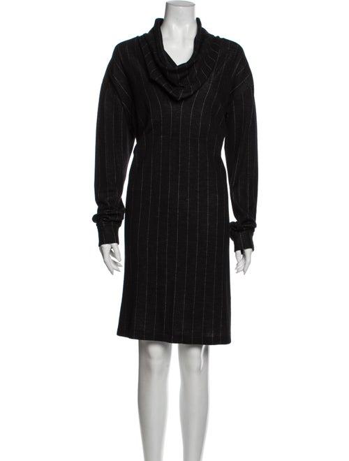 Koos Van Den Akker Wool Knee-Length Dress Wool