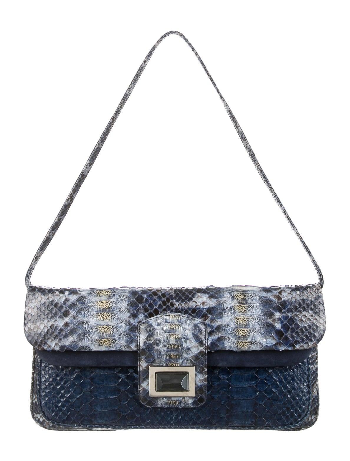 Kara Ross Python Shoulder Bag Handbags Krs20152 The