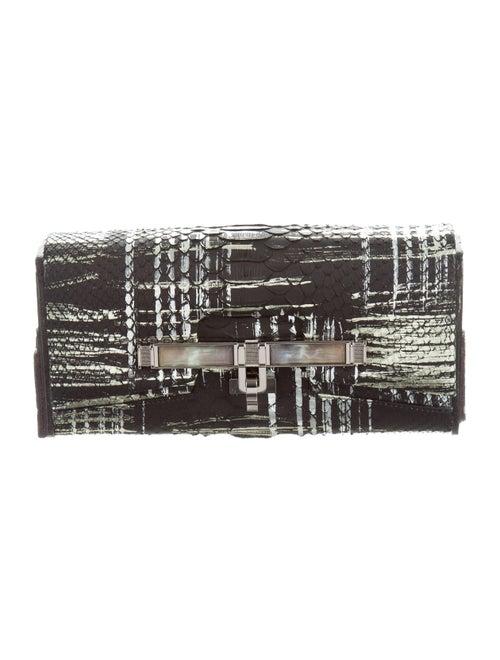 Kara Ross Moire Lux Clutch Black
