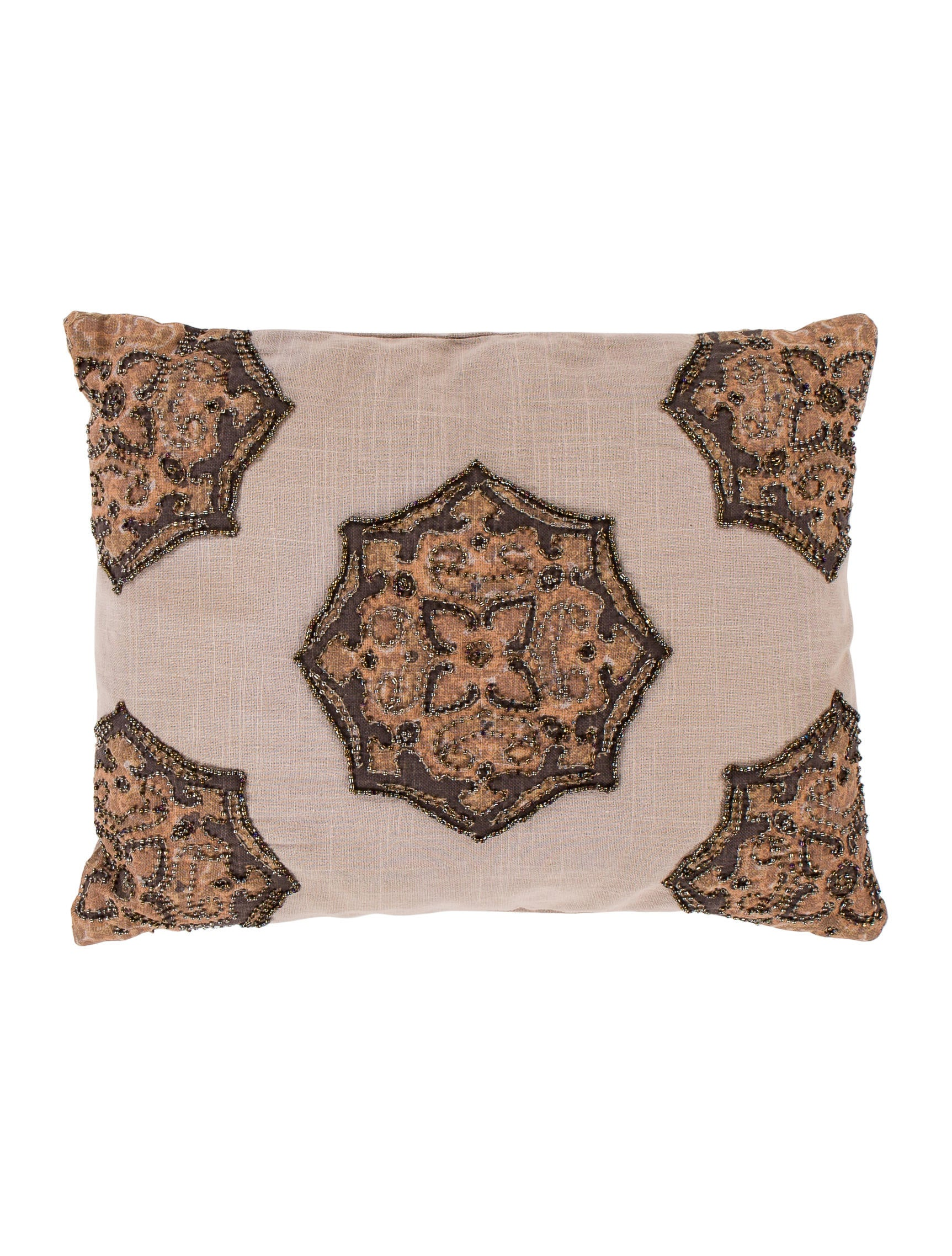 Kim Seybert Embellished Throw Pillow - Bedding And Bath - KSB20331 The RealReal
