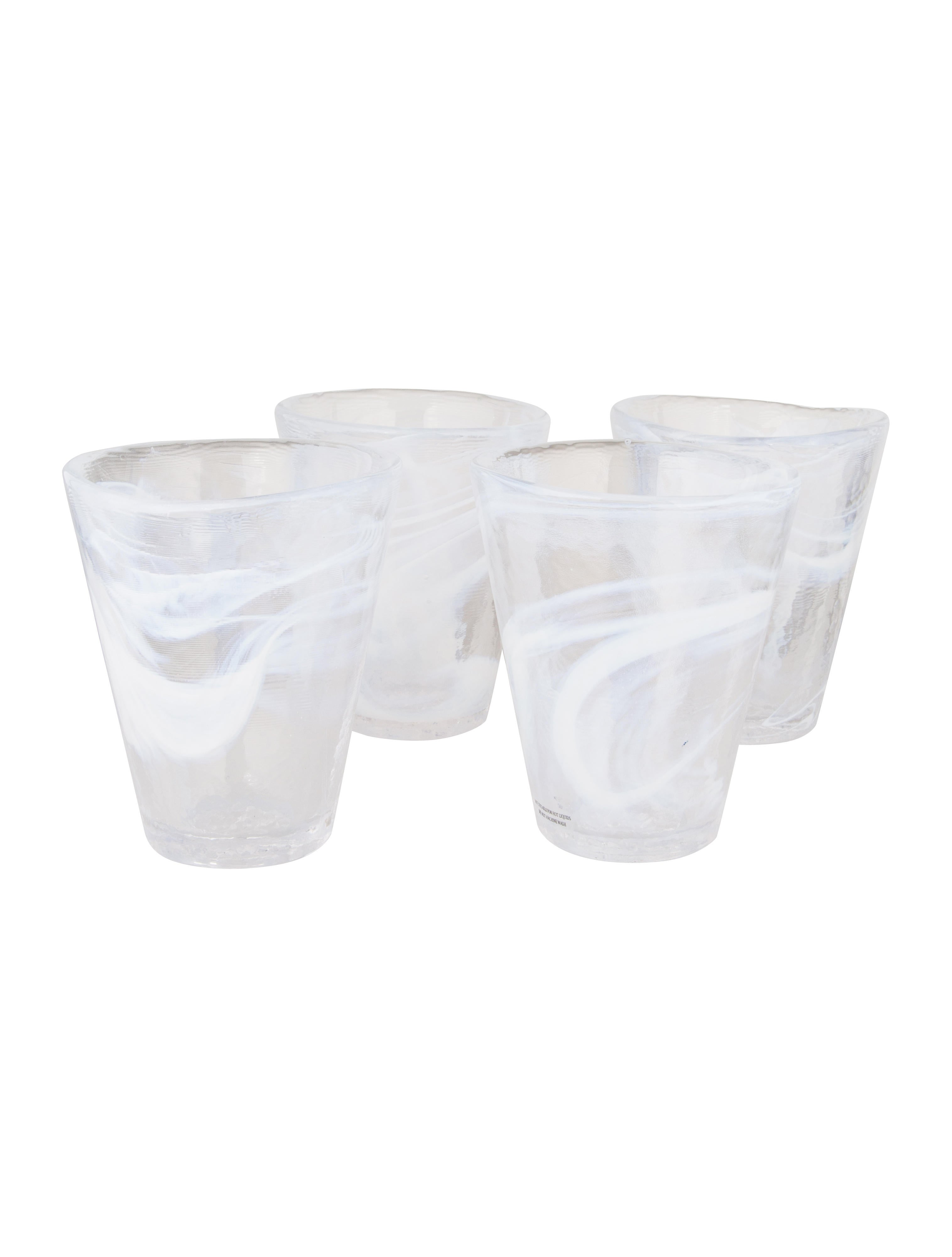 kosta boda set of 4 mine glass tumblers tabletop and. Black Bedroom Furniture Sets. Home Design Ideas