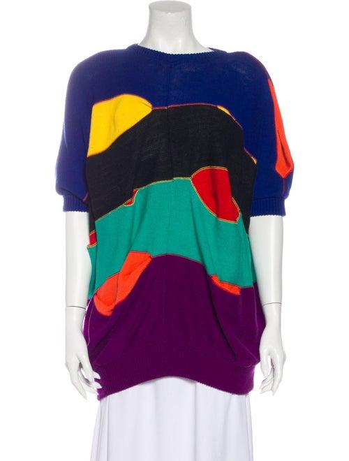 Kansai Yamamoto Vintage Printed Sweater Blue