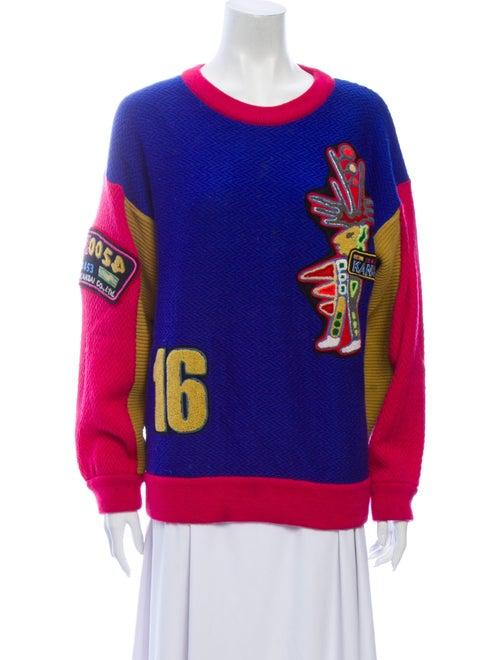 Kansai Yamamoto Wool Printed Sweater Wool