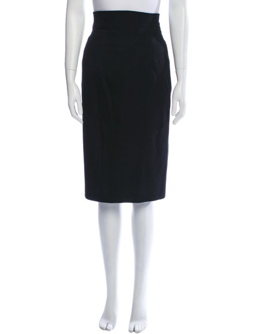 Kansai Yamamoto Vintage Knee-Length Skirt Black