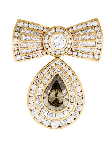 Kutchinsky Fancy Diamond Bow Brooch