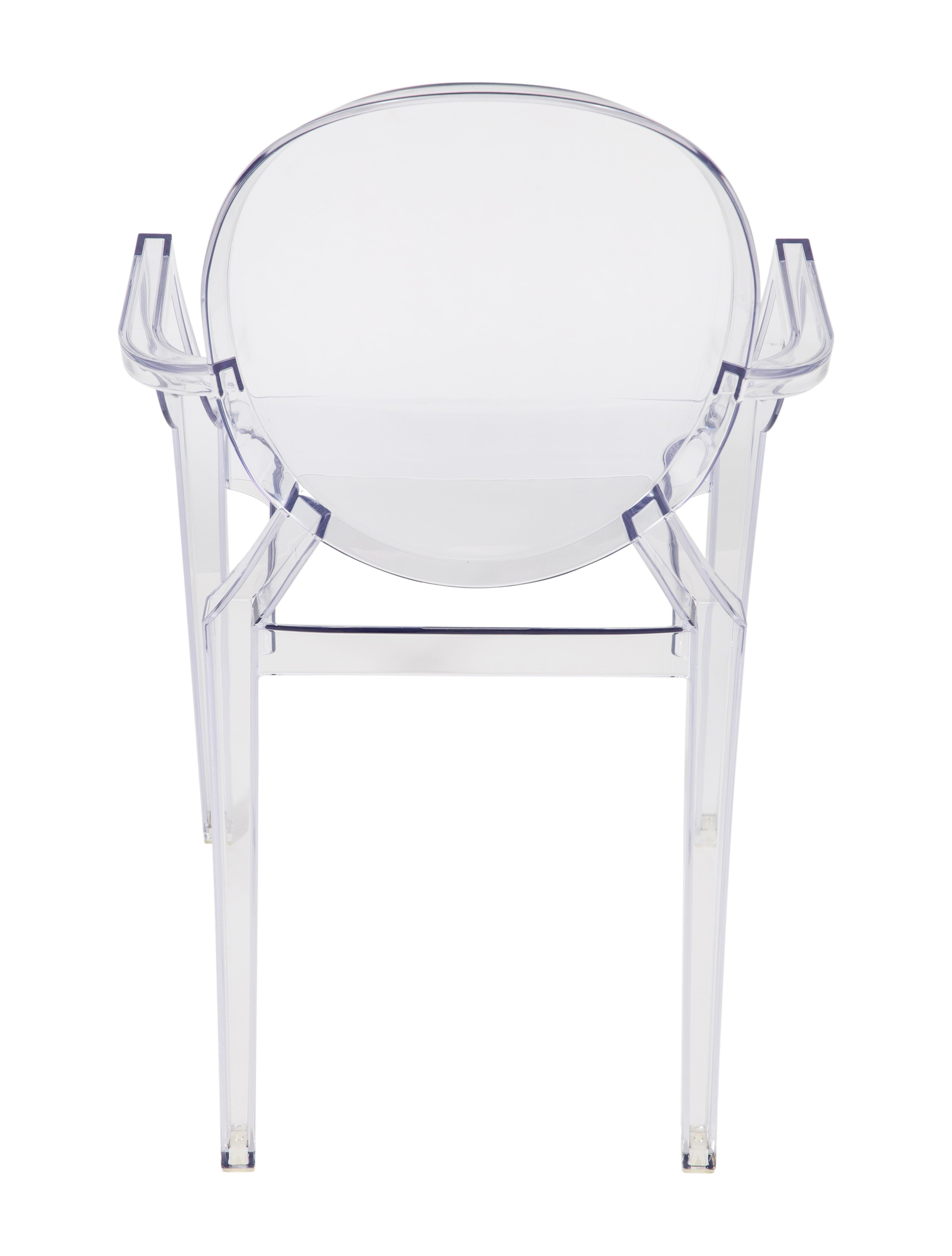 starck cristal armchair by chair ghost kartell prod lou children
