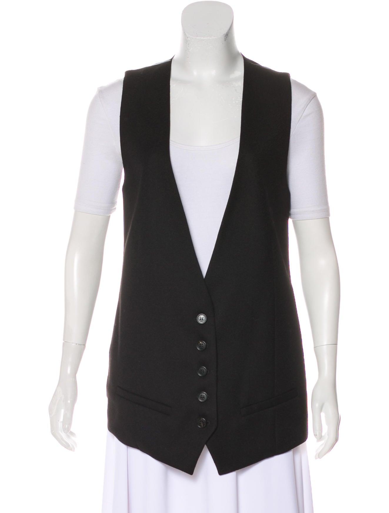 Kris Van Assche Silk-Blend Button-Up Vest w/ Tags Purchase Online NfYkb9