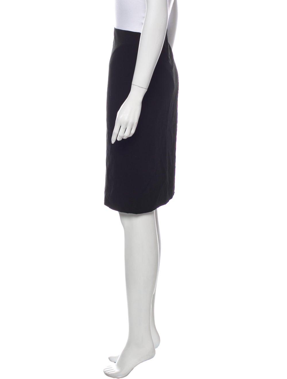 Krizia Knee-Length Skirt Black - image 2
