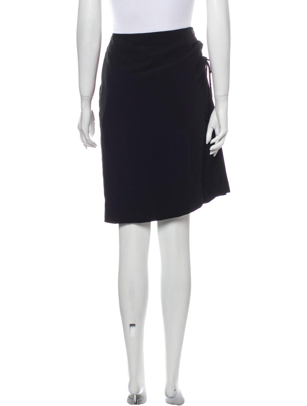 Krizia Knee-Length Skirt Black - image 3