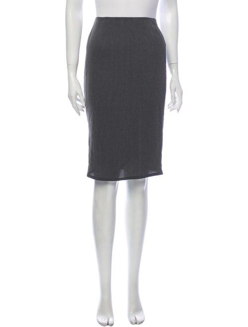 Krizia Knee-Length Skirt Grey - image 1