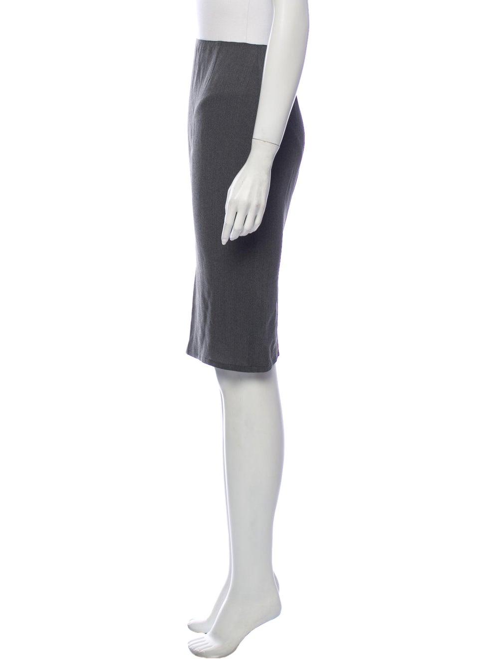Krizia Knee-Length Skirt Grey - image 2
