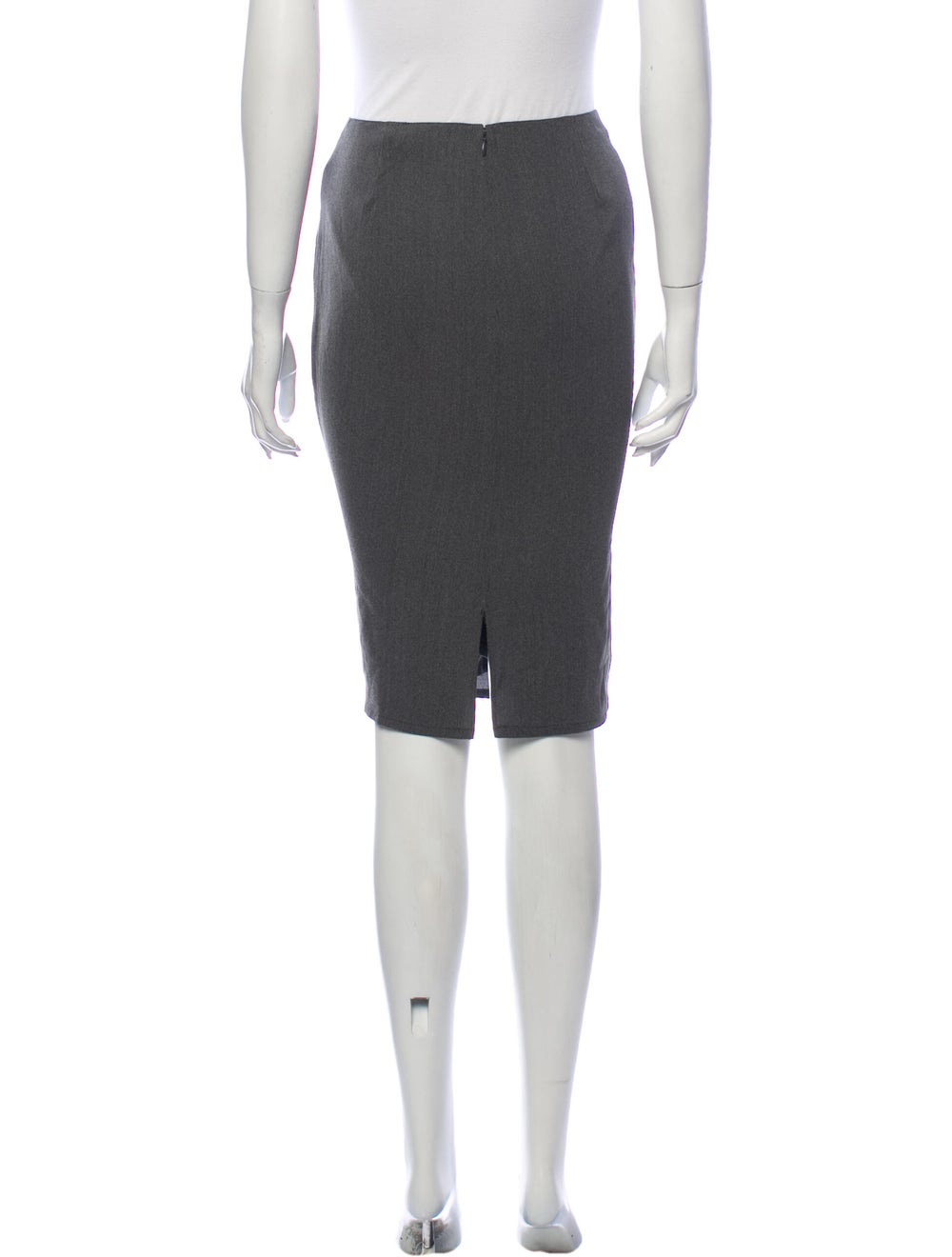 Krizia Knee-Length Skirt Grey - image 3