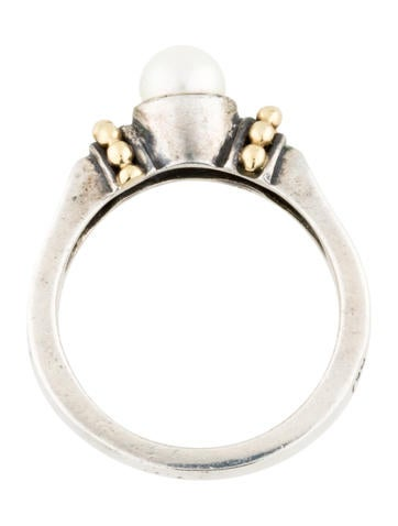 Two-Tone Pearl Ring