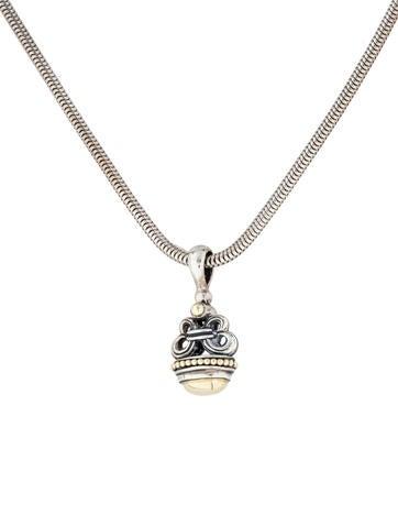 Lagos Two-Tone Pendant Necklace